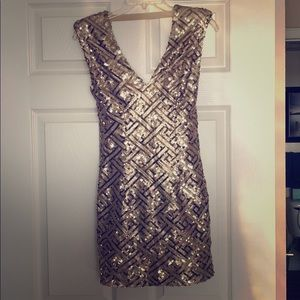 Gold sequence dress
